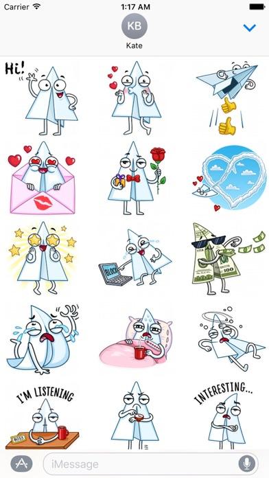 Paper Airplane Emoji Sticker screenshot 1