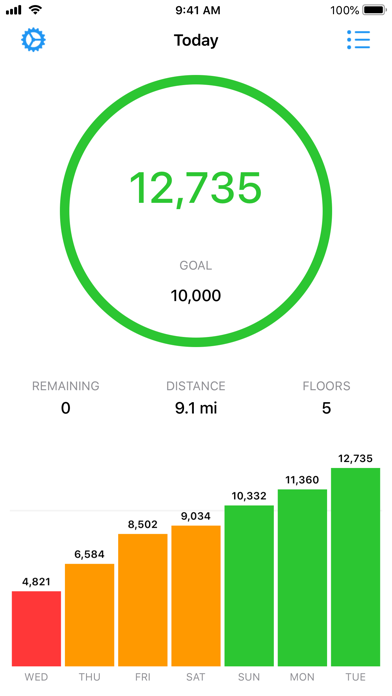 StepsMeter: Pedometer screenshot 1