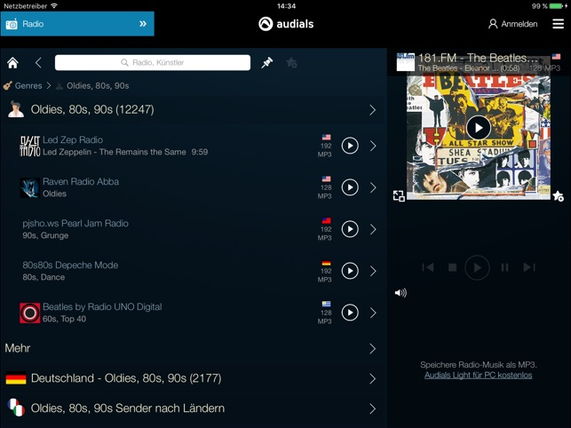 Audials Radio & Podcast Screenshot