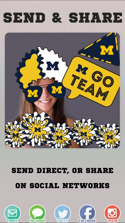 Michigan Wolverines Photo Booth Stickers screenshot-3