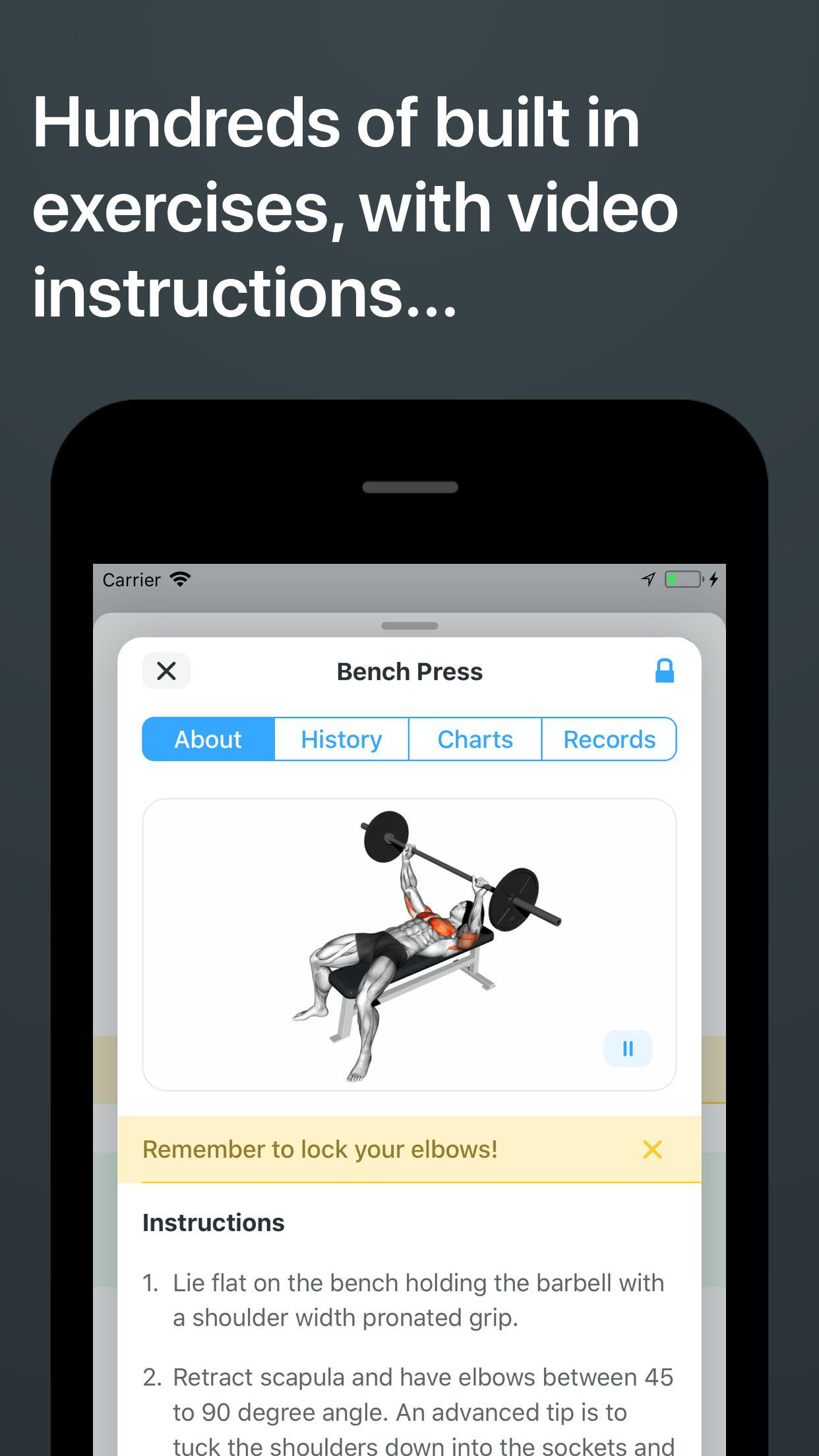 Strong Workout Tracker Gym Log Screenshot