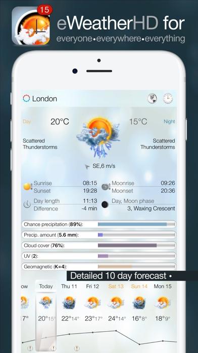 eWeather HD - Weather forecast Premium Screenshot 1