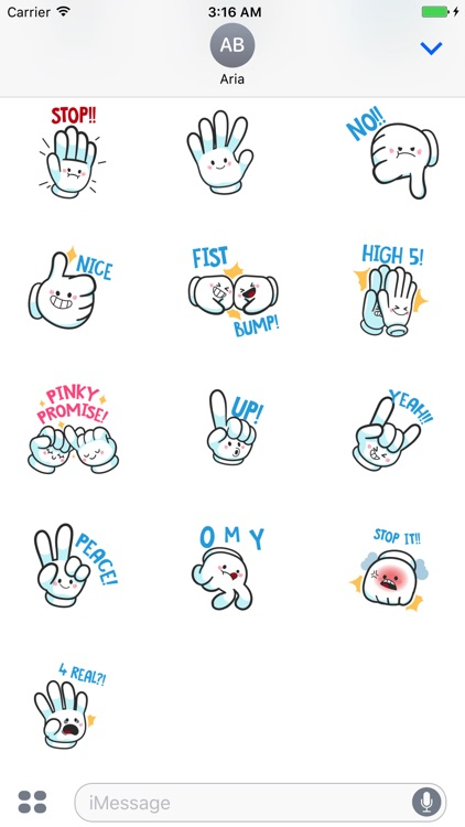 HandMoji Animated Hand Sticker screenshot-4