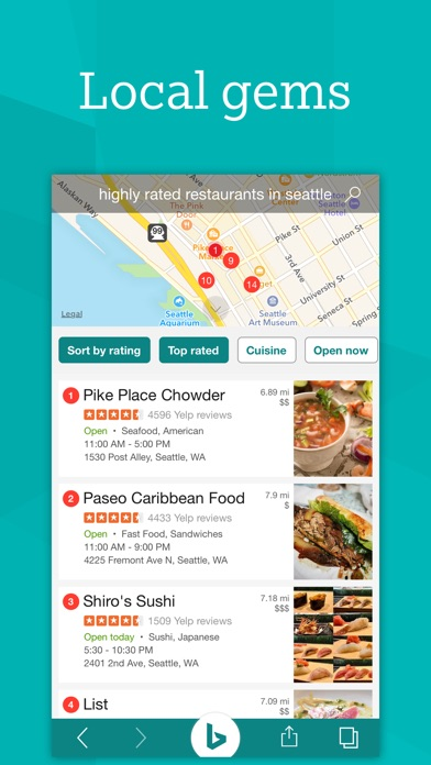 Bing – Fast and beautiful mobile search engine Screenshot