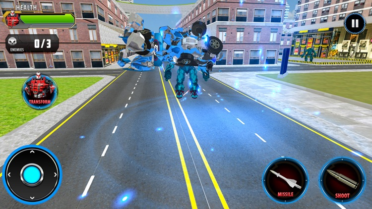 Police Car Robot Transform screenshot-4