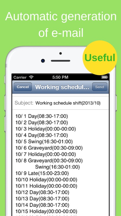 Shift Planning Calendar Pro screenshot-4