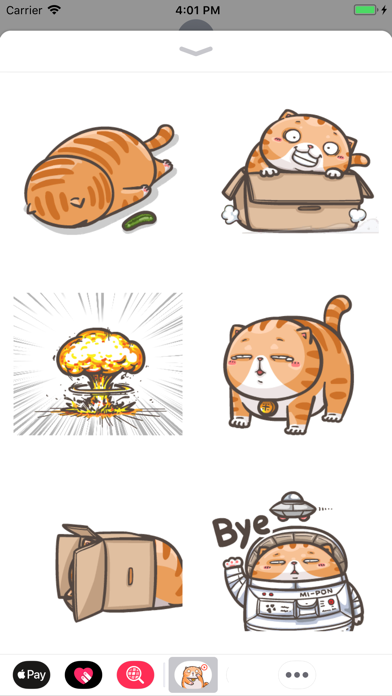 Chubby Cat Stickers Animated screenshot four