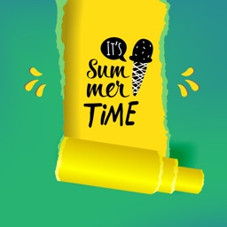Hot Summer Quote Stickers