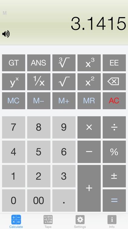 Calculator Silver Lite screenshot-0