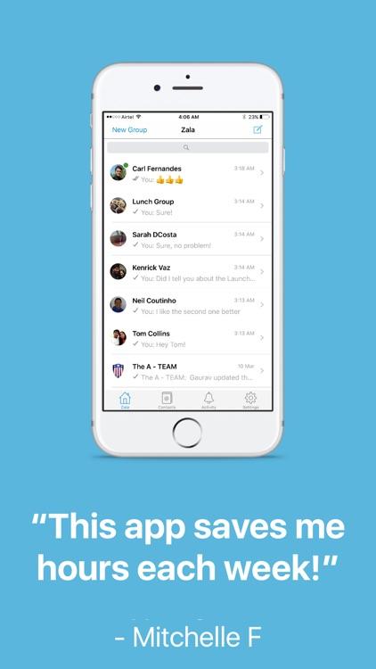Zala : Team Checklists & Chat screenshot-4