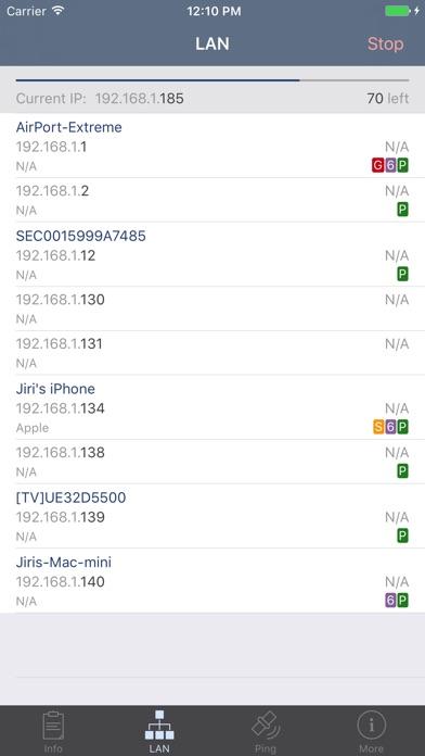Network Analyzer iPhone