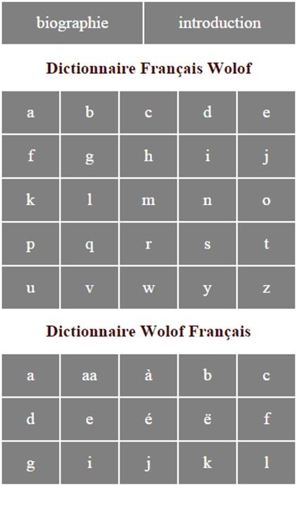 Dictionnaire Français Wolof