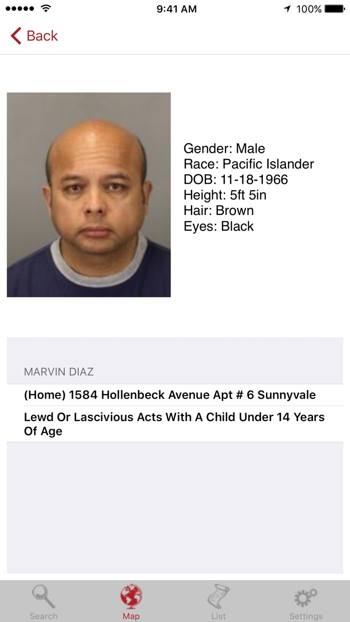 Sex Offenders Search Lite Screenshot