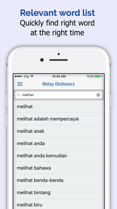 Malay Dictionary + iPhone
