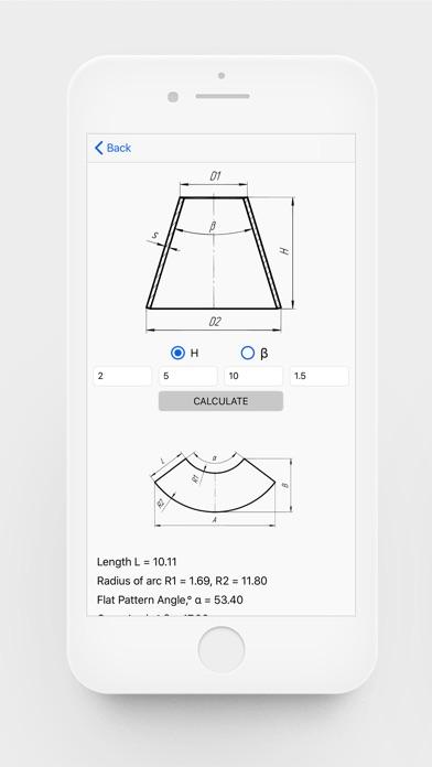 Flat Pattern Bend Calculator screenshot 2