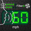 音声対応スピードメーター - 循環するコン...