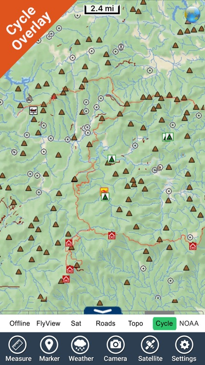 Chattahoochee National Forest - GPS Map Navigator screenshot-3