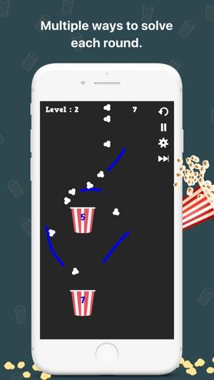 Popcorn fill: A physics puzzle Screenshot