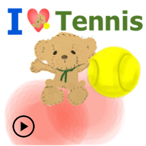 Bear & Tennis Animated Sticker