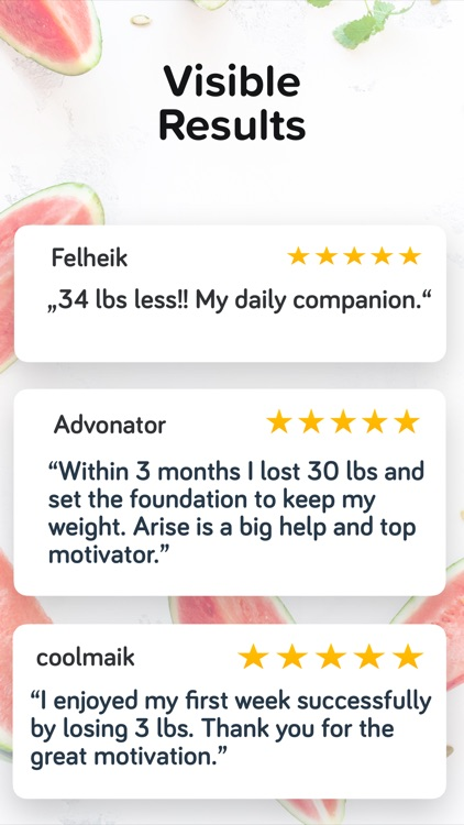 Calorie & Food Counter   Arise screenshot-4