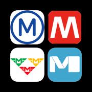 Paris, Rome, Prague, Brussel, Vienna Metro Map