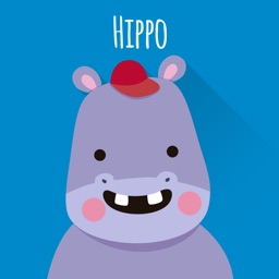 Happy Hippo Stickers