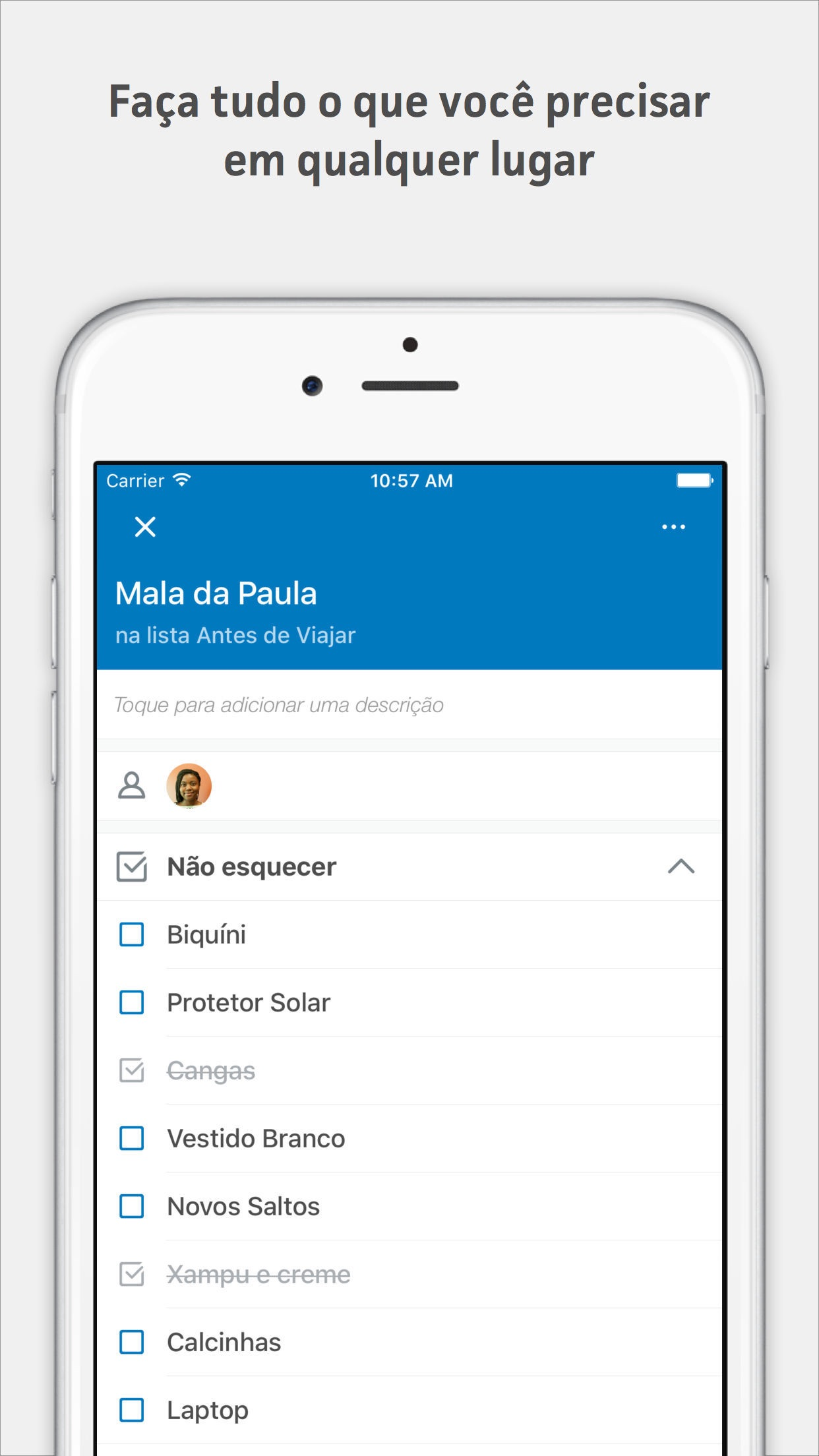 Screenshot do app Trello