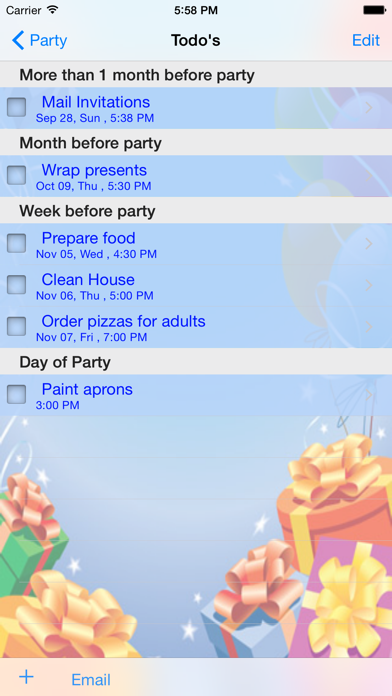 iParty screenshot two