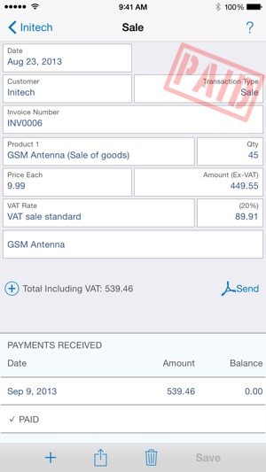Easy Invoice On The App Store - Commercial invoice template excel free download online vapor store