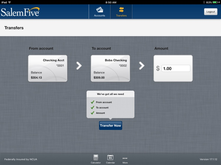 Salem Five Banking for iPad screenshot-3