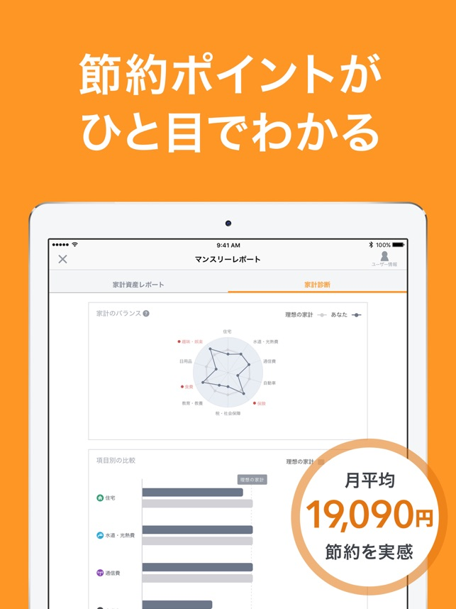 家計簿マネーフォワード-自動連携で簡単 人気の家計簿 Screenshot