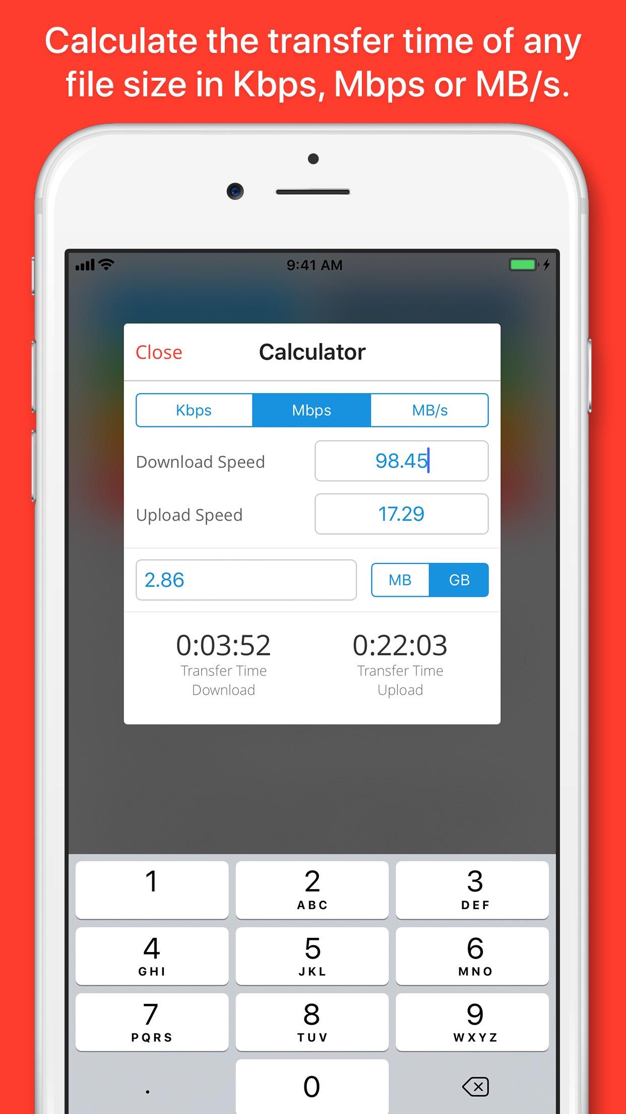 SpeedSmart Speed Test Screenshot