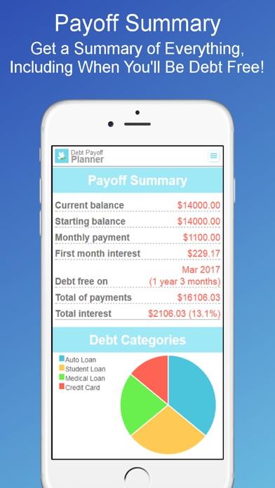 debt payoff plannercalculator by oxbowsoft llc ios united states searchman app data information