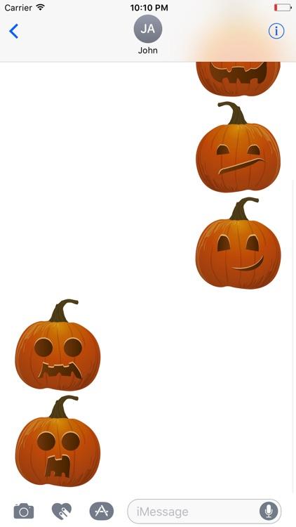 Halloween Pumpkin Emoji Fc screenshot-3