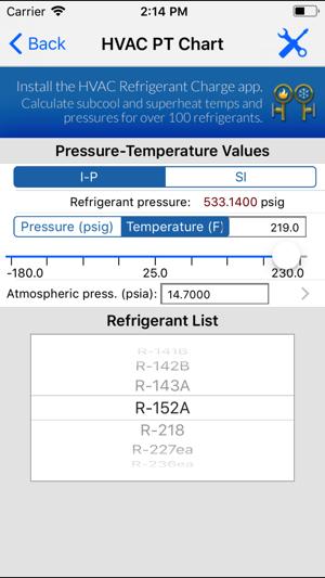 HVAC PT Chart on the App Store