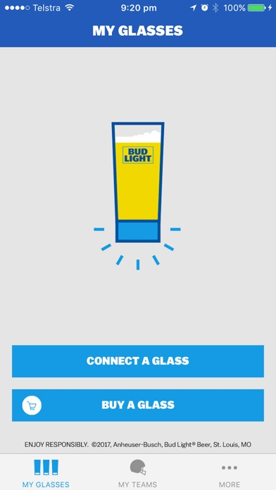 Bud Light Touchdown Glass Screenshot on iOS