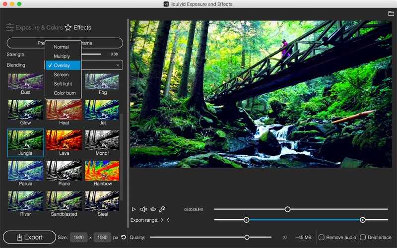 liquivid Video Exposure and Effects Mac 破解版 视频增强工具