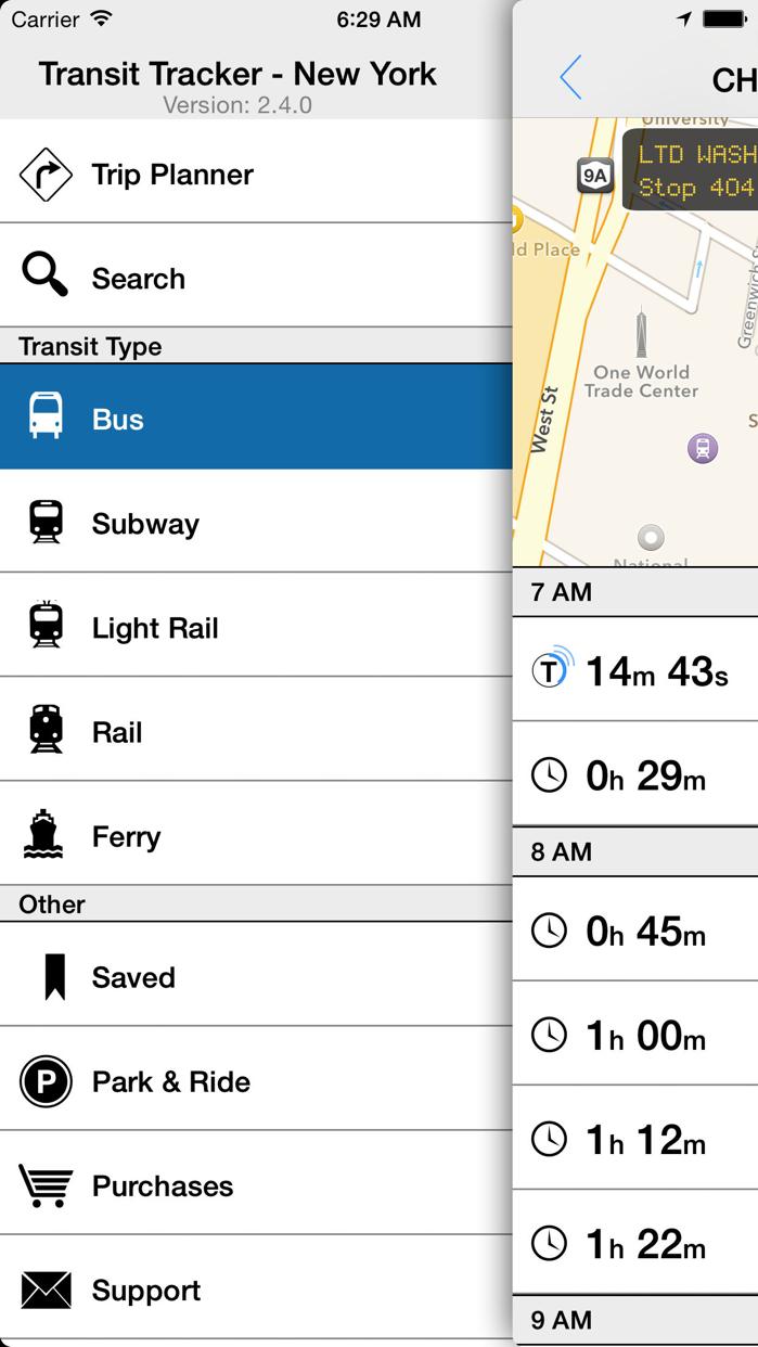 Transit Tracker - New York Screenshot