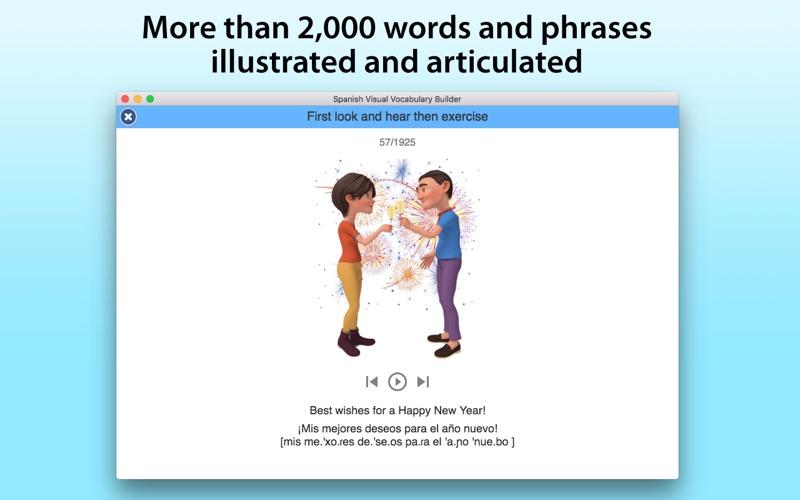 Spanish Vocabulary Builder screenshot 1
