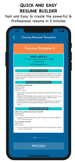 My Resume Builder Cv Maker On The App Store