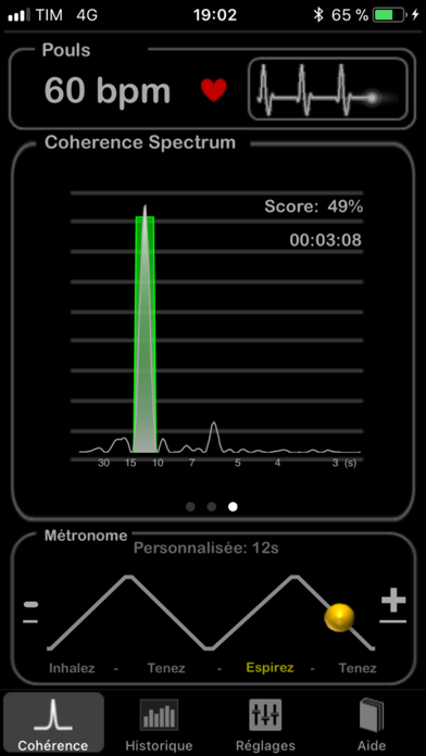 HeartRate+ Cohérence