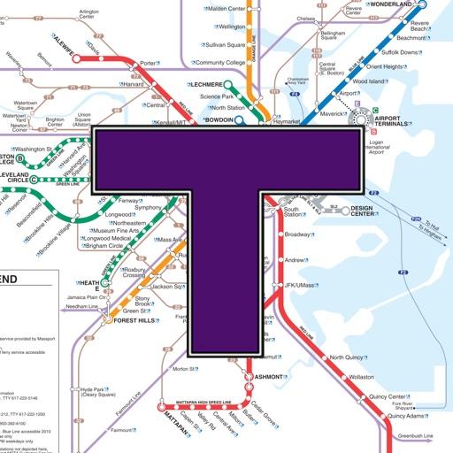 MBTA Boston T Transit Map by Todd Elliot Schrock
