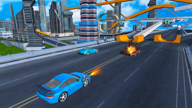 Flying car driving flight sim