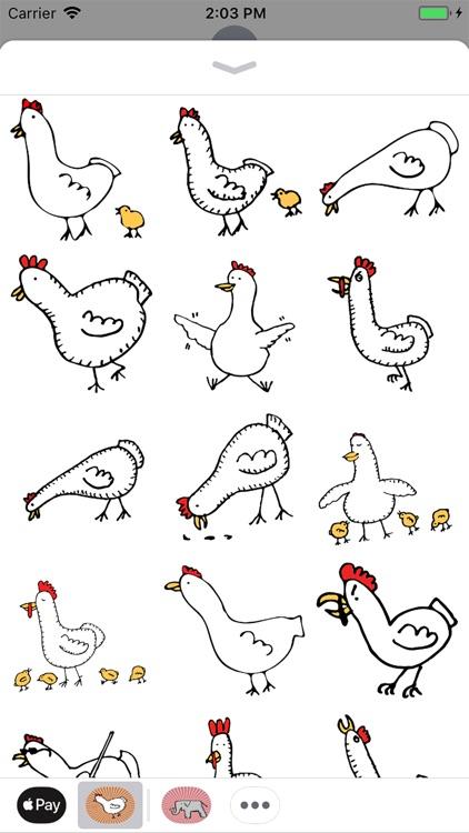 Happy Chickens Stickers