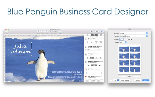 bp business card designer をmac app storeで