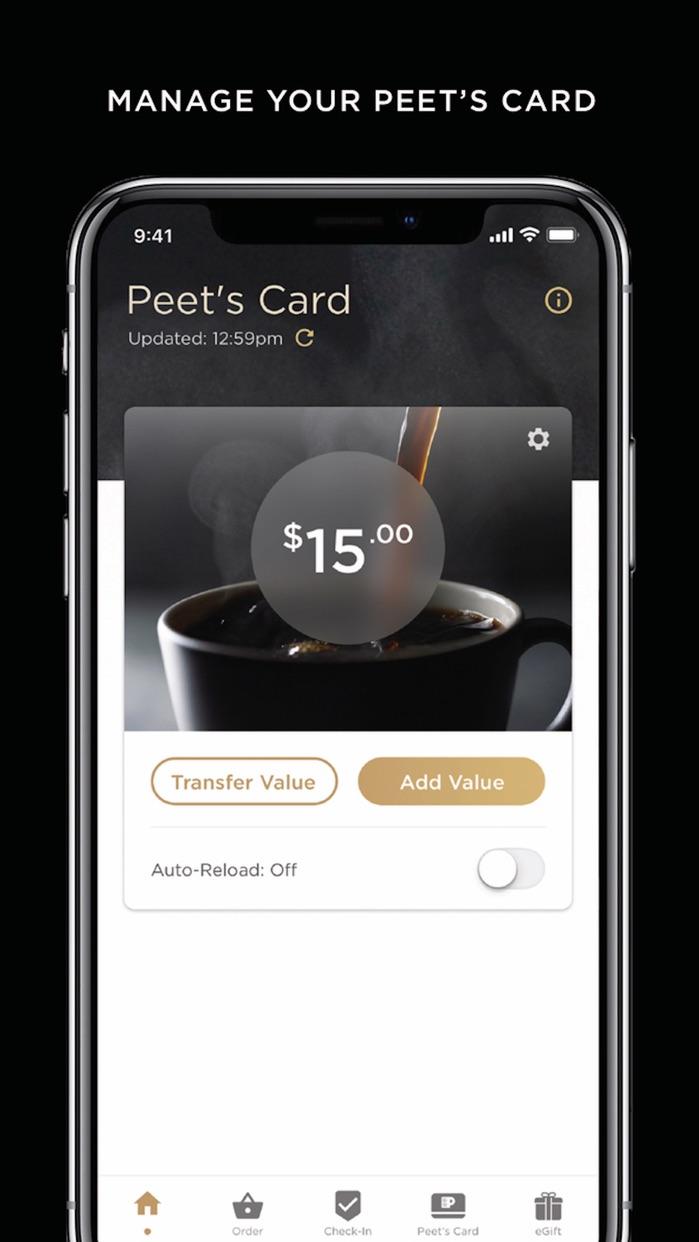 Peet's Coffee Screenshot