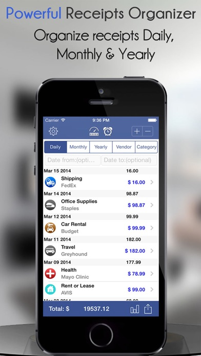 Receipt Scanner-Expense Report app image