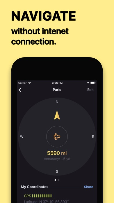 Screenshot #2 for Anchor Pointer Compass GPS