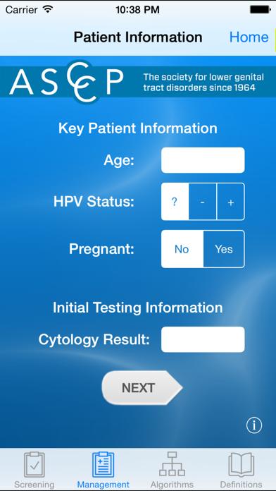 ASCCP Mobile Screenshot