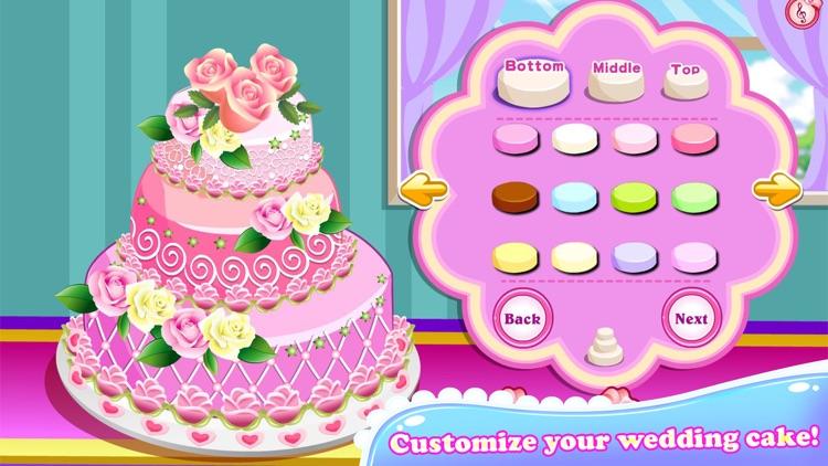 Rose Wedding Cake Cooking Game screenshot-5